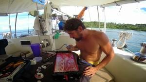 sailboat maintenance repairing electrical sv delos