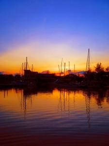 sailing indonesia sunset