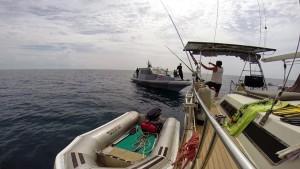 sailing indonesian navy sv delos