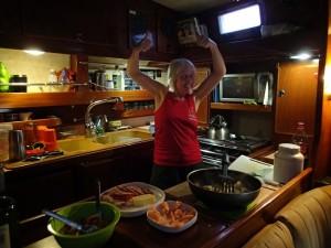 cooking aboard living sailing travelling vlog