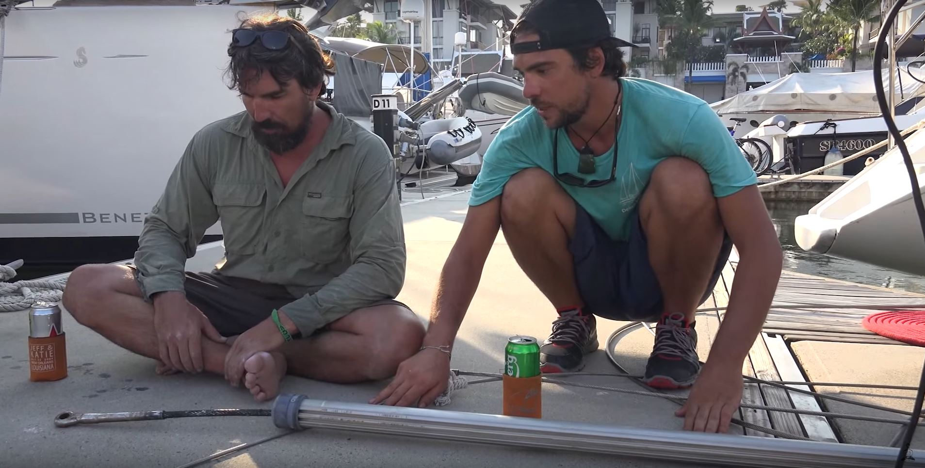 rigging sail boat repairing