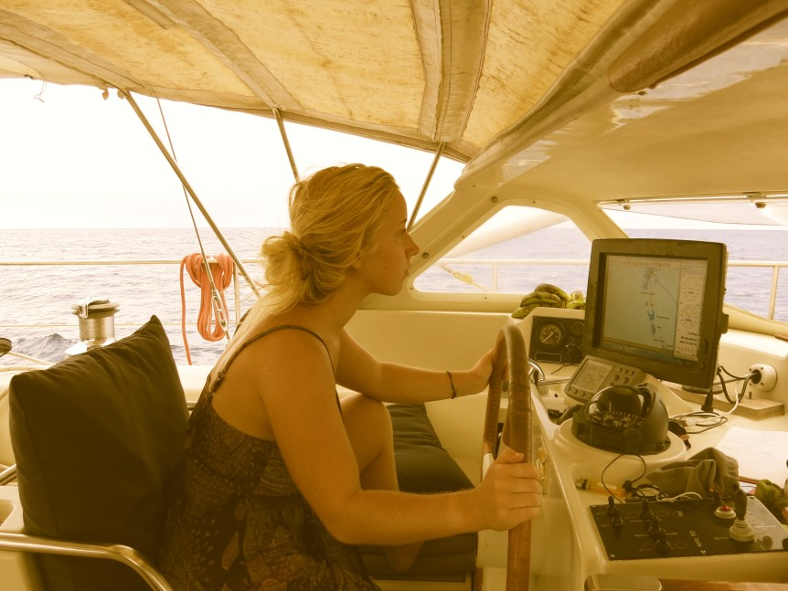 sv delos babs at the helm