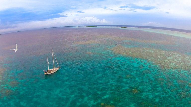 chagos remote island sailboat maintenance