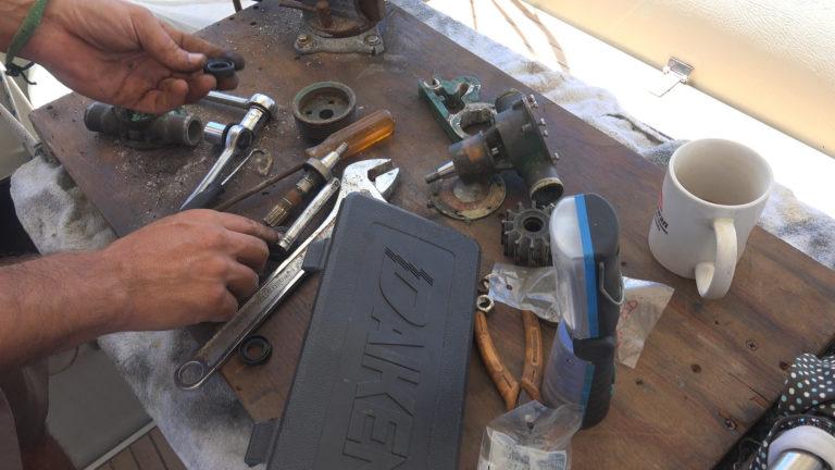 repairing water pump amel super maramu 2