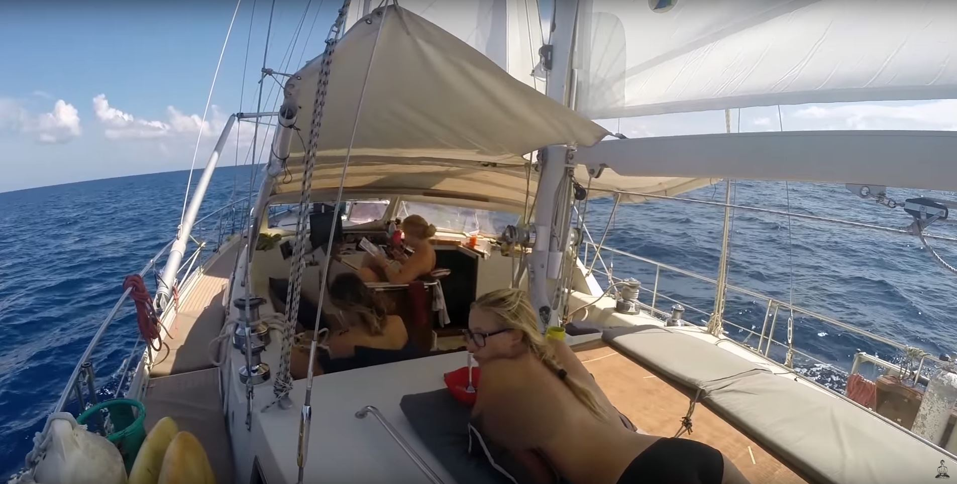 big storm open ocean sailing equator
