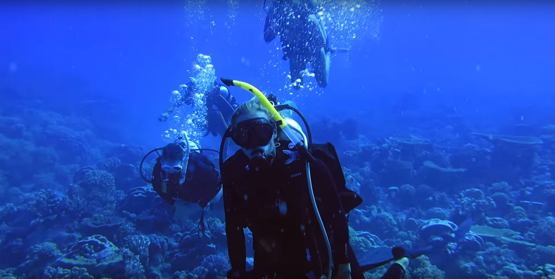scuba diving tropical atoll cocos keeling