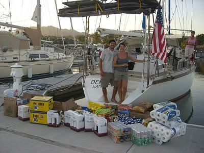 provisioning for long sailboat passage