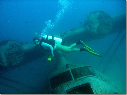 wreck diving in tahiti