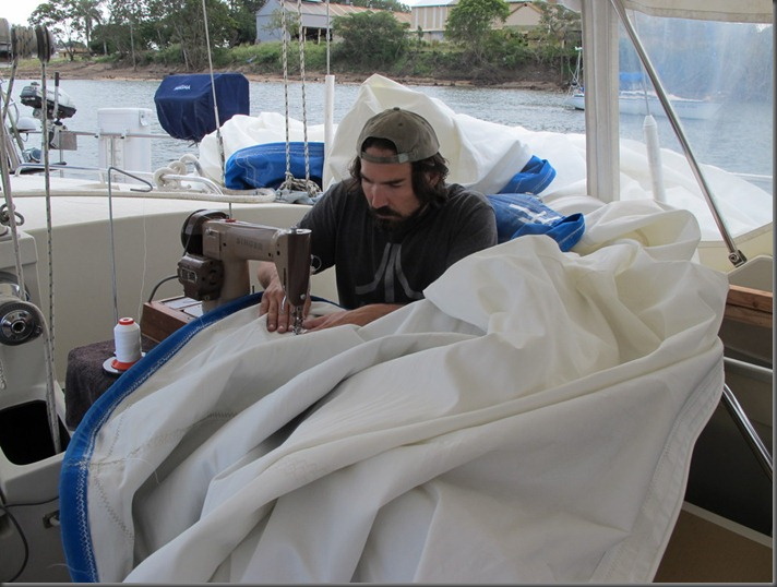 repairing sails sailboat blog sv delos