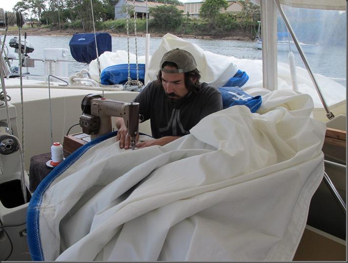 repairing sails sailboat blog sv delos