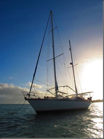 delos leaves austrailia sailing for indonesia