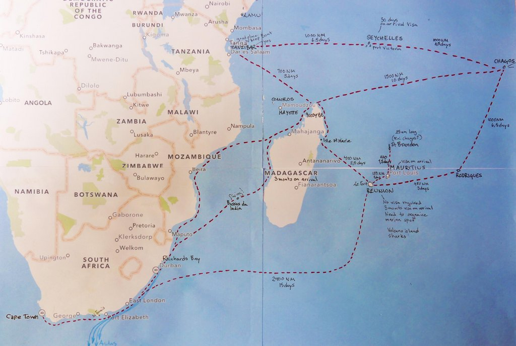 sailing routes south indian ocean exploring by boat