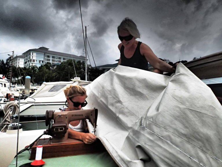 repairing sails amel super maramu 2000