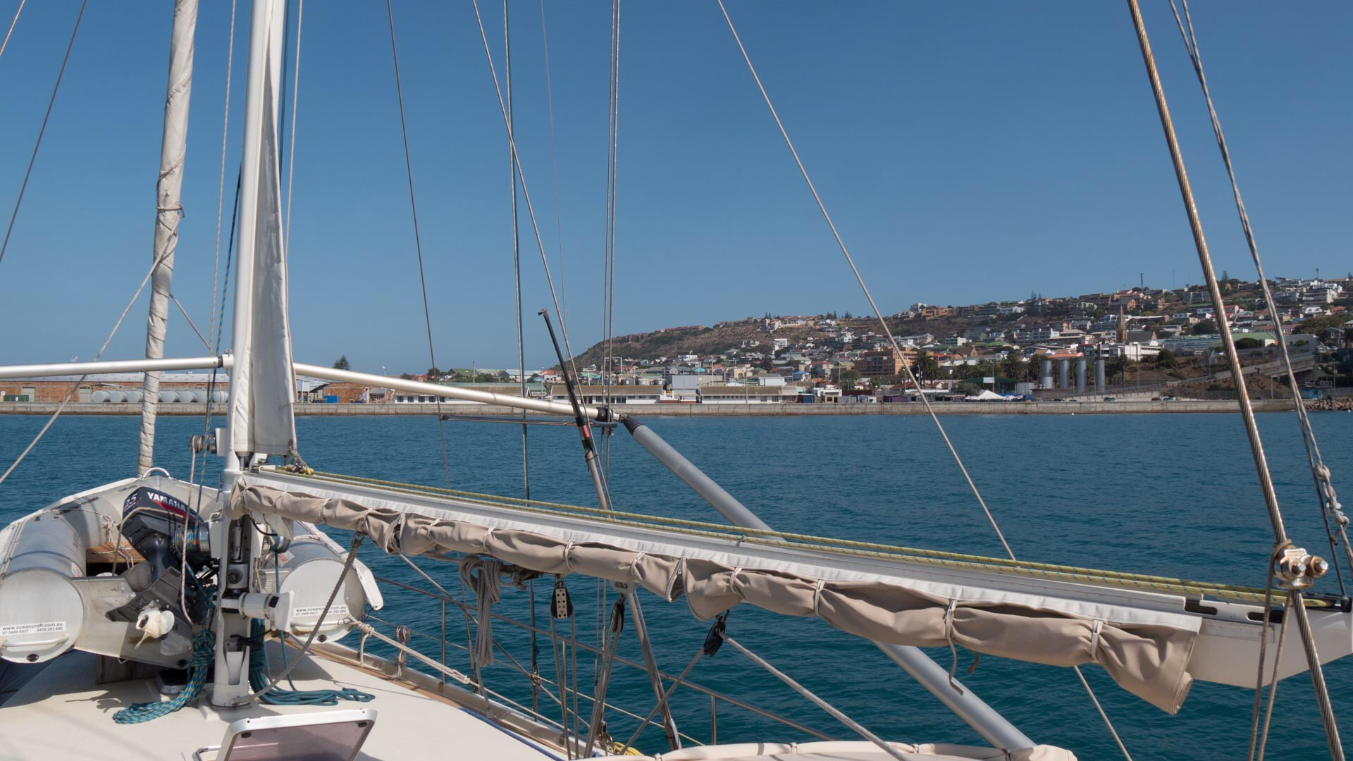 anchored in mossel bay sailboat