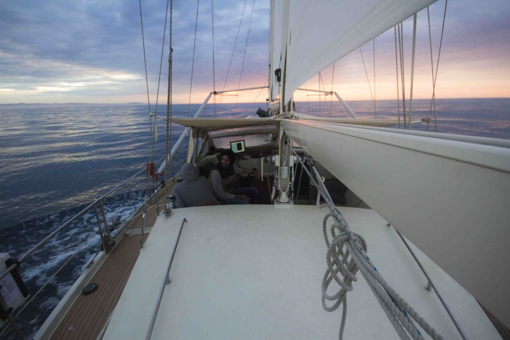 epic sunrise over indian ocean living on a sailboat