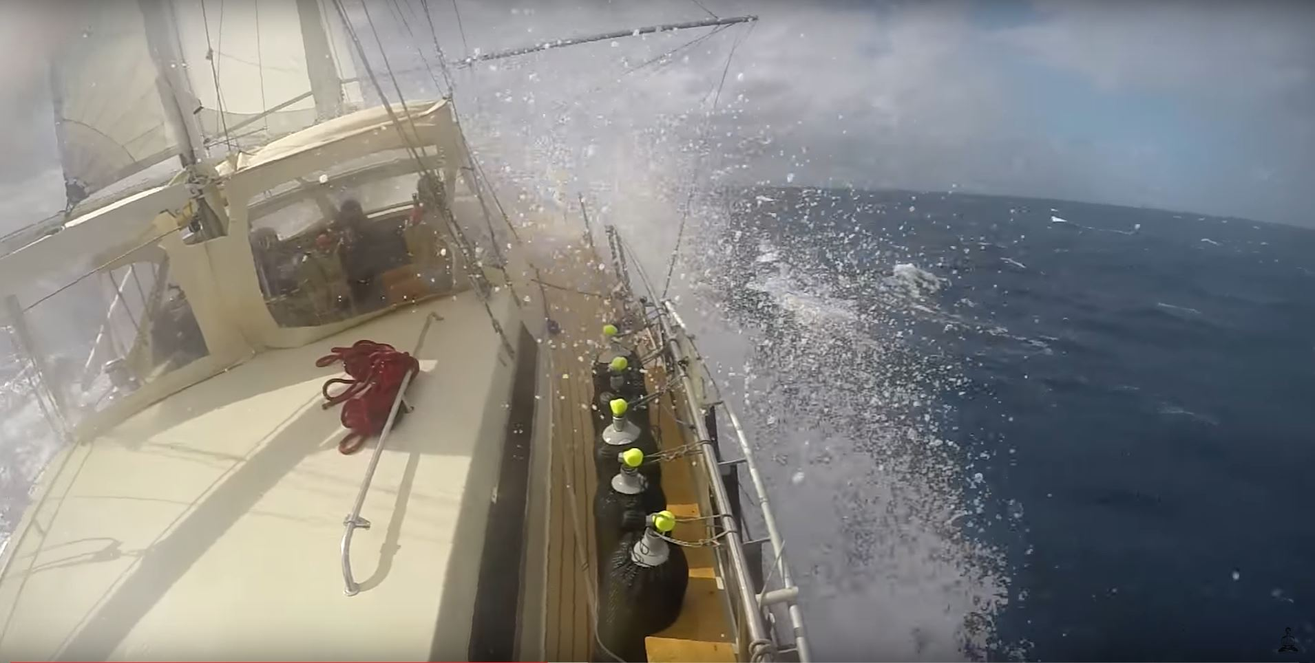 sailing in 40 knot wind