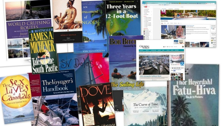 cool traveling and sailing books
