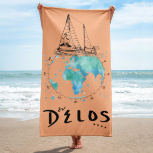 Delos Tribe Beach Towel