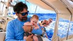 FIRST SAIL beating into 30 knots!!!  Do babies get seasick???  Sailing Vessel Delos Ep. 261