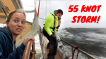 55 KNOT STORM + HUGE WAVES  😬💨⛵ Storm that Broke our Pole  – SV Delos Ep. 314